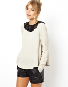 Asos Swing Collar Blouse $53.39