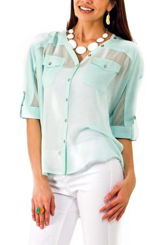 Painter's Buttoned Blouse