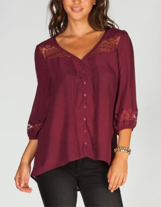 Tilly's Sheer Peasant Blouse $26.99