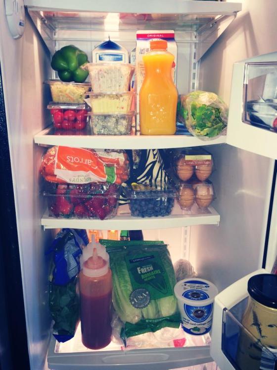 I love a full fridge!