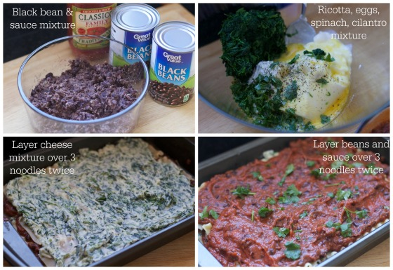 Black Bean and Spinach Lasagna